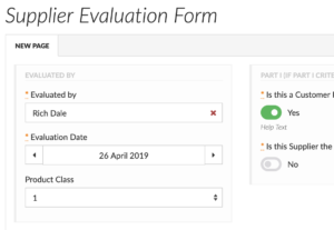 Create custom quality management forms and track activity