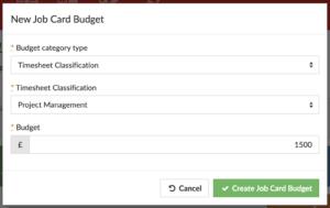 Setting a budget timesheet labour - CRM MRP