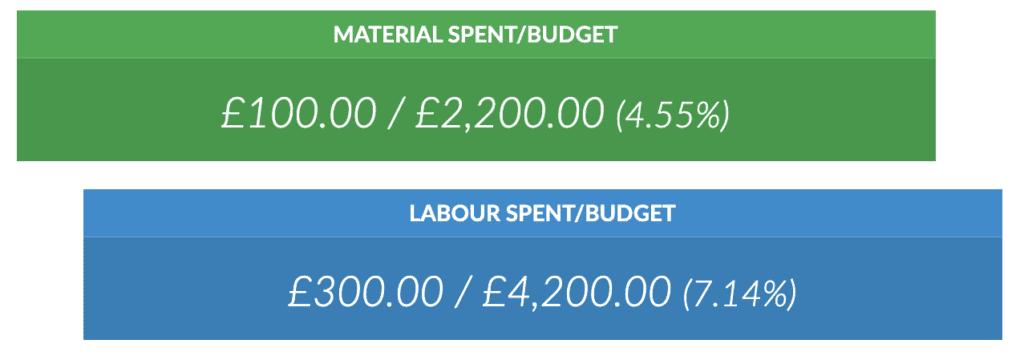 Project / Job Budget Dashboard Software