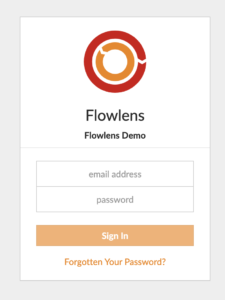 Flowlens login form
