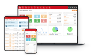 flowlens cloud manufacturing CRM and MRP software on different devices