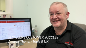 Picture of Andrew Thoms, MD of Triple R UK for Flowlens small business software case study