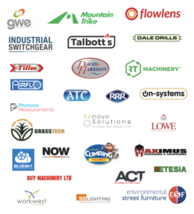 logos of some Flowlens manufacturing CRM and MRP software customers