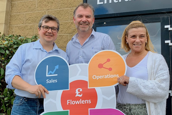 Flowlens Commercial Team - Rich Dale, Paddy Hearty, Cathy Kerrigan