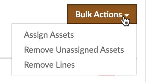 Flowlens Bulk Serialised Product dispatch button.
