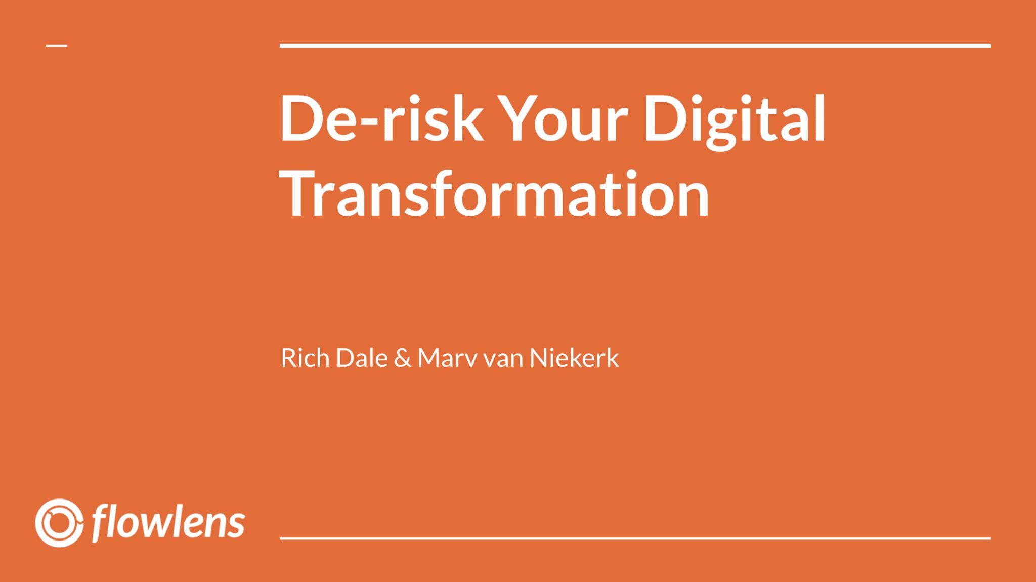 De-Risking Digital Transformation title slide