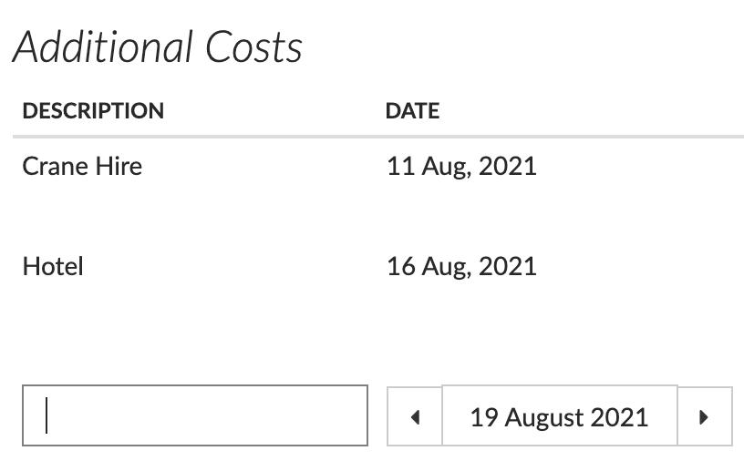 Flowlens Additional Costs screenshot